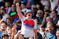 11th September 2021; Selhurst Park, Crystal Palace, London, England;  Premier League football, Crystal Palace versus Tottenham Hotspur: Crystal Palace fan chanting towards the Spurs fans