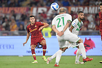 Stephan El Shaarawy of AS Roma scores the goal of 2-1  during the Serie A football match between AS Roma and US Sassuolo at Olimpico stadium in Rome (Italy), September 12th, 2021. Photo Antonietta Baldassarre / Insidefoto