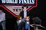 Gavin Cardoza during the Team Roping Back Number Presentation at the Junior World Finals. Photo by Andy Watson. Written permission must be obtained to use this photo in any manner.