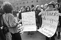 - women's demonstration for the abortion organized by Radical Party (Florence, 1975)<br />
