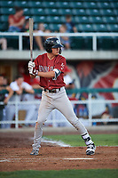 Idaho Falls Chukars Brady McConnell (15) at bat during a Pioneer League game against the Orem Owlz at The Home of the OWLZ on August 13, 2019 in Orem, Utah. Orem defeated Idaho Falls 3-1. (Zachary Lucy/Four Seam Images)