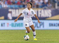 CHARLOTTE, NC - OCTOBER 3: Cho So Hyun #8 of Korea Republic dribbles during a game between Korea Republic and USWNT at Bank of America Stadium on October 3, 2019 in Charlotte, North Carolina.