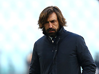 Calcio, Serie A: Juventus - Bologna, Turin, Allianz Stadium, January 24, 2021.<br /> Juventus coach Andrea Pirlo prior to the Italian Serie A football match between Juventus and Bologna at the Allianz stadium in Turin, January 24, 2021.<br /> UPDATE IMAGES PRESS/Isabella Bonotto