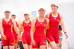 China Team's rowers after the Rowing Women's competition on Day Eight of the 5th Asian Beach Games 2016 at Bien Dong Park on 01 October 2016, in Danang, Vietnam. Photo by Marcio Machado / Power Sport Images
