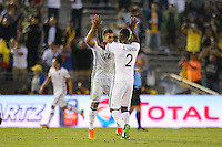 Pasadena, CA - Tuesday June 07, 2016: Colombia defender Jeison Murillo (22) and defender Cristián Zapata (2) during a Copa America Centenario Group A match between Colombia (COL) and Paraguay (PAR) at Rose Bowl Stadium.