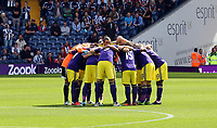 Pictured: Swansea players huddle before kick off.<br /> Sunday 01 September 2013<br /> Re: Barclay's Premier League, West Bromwich Albion v Swansea City FC at The Hawthorns, Birmingham, UK.