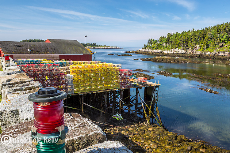 Sebasco Harbor in Phippsburg, Maine, USA