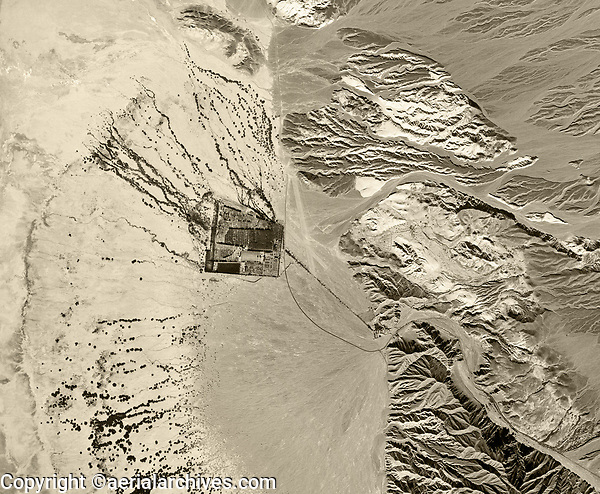aerial photograph of Furnace Creek, Death Valley National Park, northern Mojave Desert, California, 1948