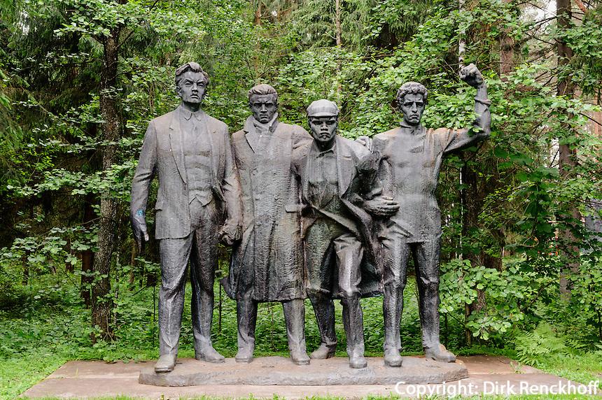 4 Kommunarden im Ausstellungsgelände Grutas-Park, Litauen, Europa