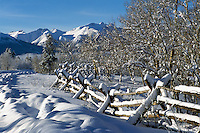 Nemaiah (Nemiah) Valley and Coast Mountains, Cariboo Chilcotin Coast Region, BC,  British Columbia, Canada - Winter