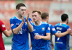Hamilton Accies v St Johnstone…01.09.18…   New Douglas Park     SPFL<br />Blair Alston applauds the fans at full time<br />Picture by Graeme Hart. <br />Copyright Perthshire Picture Agency<br />Tel: 01738 623350  Mobile: 07990 594431