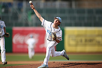 Har-Ber High School starting pitcher Tyler Ridley pitches during first inning action Monday, April 26, 2021, against Rogers High School at Arvest Ballpark in Springdale. Check out nwaonline.com/210427Daily/ and nwadg.com/photos for a photo gallery.<br /> (NWA Democrat-Gazette/David Gottschalk)