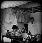 Tailors are found in every Indonesian city. Mostly they charge about 3000 Rupiah (30 cents) for shortening a pair of trousers. A ladies suit costs about 100,000 Rupiah (about 10 dollars) and a men suit about 150,000 Rupiah (about 15 dollars). On average a tailor makes 30,000 Rupiah (3 dollars) a day.