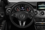 Car pictures of steering wheel view of a 2018 Mercedes Benz GLA GLA250 5 Door SUV
