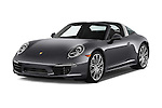 2015 Porsche 911 Targa 4S 2 Door Coupe Angular Front stock photos of front three quarter view