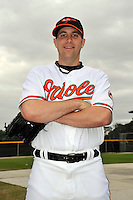 Feb 27, 2010; Tampa, FL, USA; Baltimore Orioles  pitcher Brad Bergesen (35) during  photoday at Ed Smith Stadium. Mandatory Credit: Tomasso De Rosa