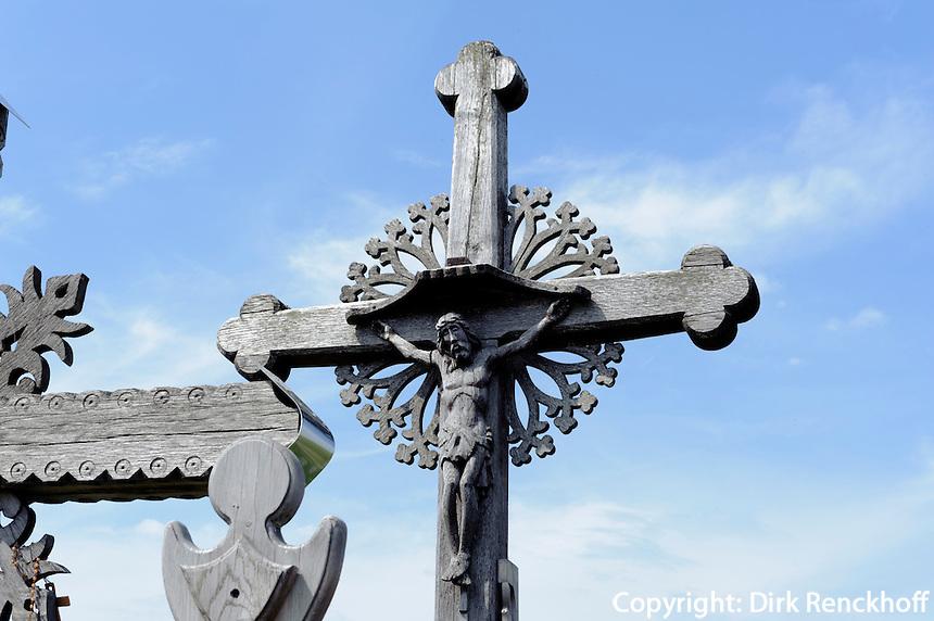 Berg der Kreuze bei Siauliai, Litauen, Europa
