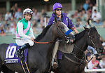 ARCADIA, CA - NOVEMBER 5: Arrogate #10, ridden by Mike Smith, before the the Breeders' Cup Classic during day two of the 2016 Breeders' Cup World Championships at Santa Anita Park on November 5, 2016 in Arcadia, California. (Photo by Alex Evers/Eclipse Sportswire/Breeders Cup)