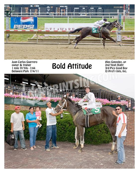 Bold Attitude winning at Delaware Park on 7/4/11