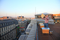 Nicolas Geant, beehive, urban beekeeper, Paris, honey, Louis Vuitton head office, Pont Neuf,