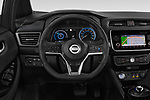 Car pictures of steering wheel view of a 2018 Nissan Leaf N Connecta 5 Door Hatchback