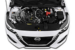 Car Stock 2020 Nissan Sentra SV 4 Door Sedan Engine  high angle detail view