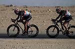 Radioshack-Nissan Trek team in action during the 2nd Stage of the 2012 Tour of Qatar a team time trial at Lusail Circuit, Doha, Qatar, 6th February 2012 (Photo Eoin Clarke/Newsfile)