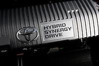 Engine of a Toyota Prius, hybrid car. © Fredrik Naumann/Felix Features