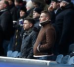 Hearts striker Ryan Stevenson in the stand
