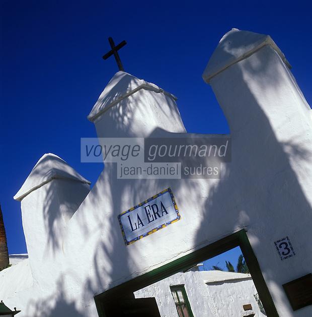 """Europe/Espagne/Canaries/Lanzarote/Yaria : Restaurant """"La Era"""" - Le porche"""