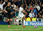 Real Madrid CF's Vinicius Jr seen in action during UEFA Champions League match, round of 16 first leg between Real Madrid and Manchester City at Santiago Bernabeu Stadium in Madrid, Spain. February Wednesday 26, 2020.(ALTERPHOTOS/Manu R.B.)