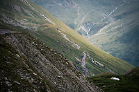 race coming up the Col de l'Iseran (HC/2751m/13km@7.3%) <br /> > where the race was eventually stopped (at the top) because of landslides further up the road (after a severe hail storm in Tignes)<br /> <br /> Stage 19: Saint-Jean-de-Maurienne to Tignes (126km)<br /> 106th Tour de France 2019 (2.UWT)<br /> <br /> ©kramon