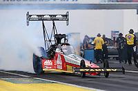 Jun 5, 2015; Englishtown, NJ, USA; NHRA top fuel driver Doug Kalitta during qualifying for the Summernationals at Old Bridge Township Raceway Park. Mandatory Credit: Mark J. Rebilas-