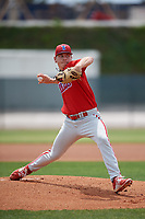 Philadelphia Phillies pitcher Spencer Howard (15) during a Minor League Spring Training game against the Toronto Blue Jays on March 30, 2018 at Carpenter Complex in Clearwater, Florida.  (Mike Janes/Four Seam Images)