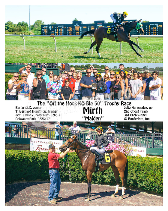 Mirth winning at Delaware Park on 9/23/17