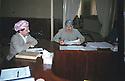 Iraq 1993.11th congress of KDP party in Hawler: Jowhar Namek and Masoud Barzani<br /> Irak 1993 . 11eme congres du PDK a Hawler, Jowhar Namek  et Masoud Barzani