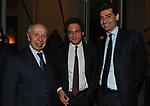 LAMBERTO DINI, MICHEL MARTONE E ANDREA SIRONI<br /> PREMIO GUIDO CARLI - QUARTA EDIZIONE<br /> RICEVIMENTO HOTEL MAJESTIC ROMA 2013