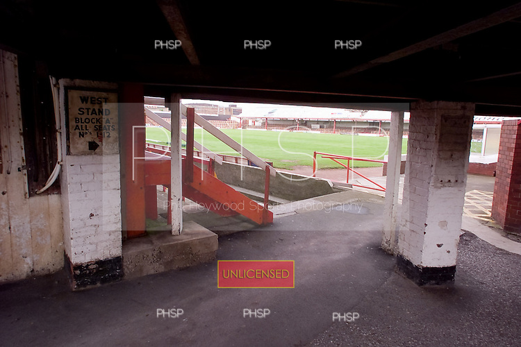 23/06/2000 Blackpool FC Bloomfield Road Ground..View underneath the south west stand.....© Phill Heywood.
