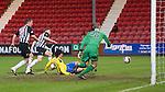 Dunfermline v St Johnstone..24.12.11   SPL .Fran Sandaza makes it 2-0.Picture by Graeme Hart..Copyright Perthshire Picture Agency.Tel: 01738 623350  Mobile: 07990 594431
