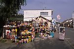 Gorey Jersey The Channel Islands. A well stocked bucket and spade tourist shop 2000s