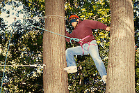 High ropes course, horz. MA USA.