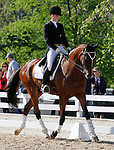 LEXINGTON, KY - APRIL 29: #56 Foxwood High and rider Selena O'Hanlon in the warm up ring before their Dressage test in the Rolex Three Day Event, Dressage Day 2, at the Kentucky Horse Park in Lexington, KY.  April 29, 2016 in Lexington, Kentucky. (Photo by Candice Chavez/Eclipse Sportswire/Getty Images)