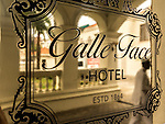 18 August 2015,Colombo, Sri Lanka:  The brass nameplate at the entrance to the historic Galle Face Hotel,  Colombo, Sri Lanka.     Picture by Graham Crouch