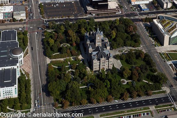 aerial photograph Salt Lake City and County Building, Salt Lake City, Utah