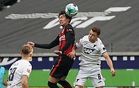 Daichi Kamada (Eintracht Frankfurt) gegen Dennis Geiger (TSG 1899 Hoffenheim)<br /> - 03.10.2020: Fussball  Bundesliga, Saison 20/21, Spieltag 3, Eintracht Frankfurt vs. TSG 1899 Hoffenheim, emonline, emspor, v.l. Deutsche Bank Park<br /> Foto: Marc Schueler/Sportpics.de <br /> Nur für journalistische Zwecke. Only for editorial use. (DFL/DFB REGULATIONS PROHIBIT ANY USE OF PHOTOGRAPHS as IMAGE SEQUENCES and/or QUASI-VIDEO)