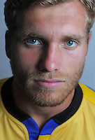 Brad Shields. Hurricanes Super Rugby official headshots at Rugby League Park, Wellington, New Zealand on Friday, 24 January 2014. Photo: Dave Lintott / lintottphoto.co.nz
