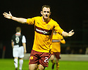 :: MOTHERWELL'S FRANCIS JEFFERS CELEBRATES AFTER HE SCORED THE THIRD ::.29/03/2011   sct_jsp015_motherwell_v_dundee_utd     .Copyright  Pic : James Stewart.James Stewart Photography 19 Carronlea Drive, Falkirk. FK2 8DN      Vat Reg No. 607 6932 25.Telephone      : +44 (0)1324 570291 .Mobile              : +44 (0)7721 416997.E-mail  :  jim@jspa.co.uk.If you require further information then contact Jim Stewart on any of the numbers above.........