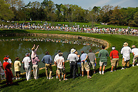 Crowds gather to watch the golf during the 2007 Wachovia Championships at Quail Hollow Country Club in Charlotte, NC.