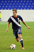 Marc Pelosi (11) of the USA. The USMNT U-17 defeated New York Red Bulls U-18 4-1 during a friendly at Red Bull Arena in Harrison, NJ, on October 09, 2010.