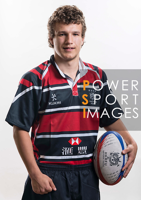 Hong Kong Junior Squad team member Oscar Kurten poses during the Official Photo Session Day at King's Park Sports Ground ahead the Junior World Rugby Tournament on 25 March 2014. Photo by Andy Jones / Power Sport Images